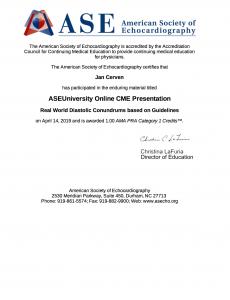 ASE Diastolic Conundrum 2019